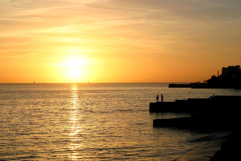 mer de la Rochelle, crépuscule