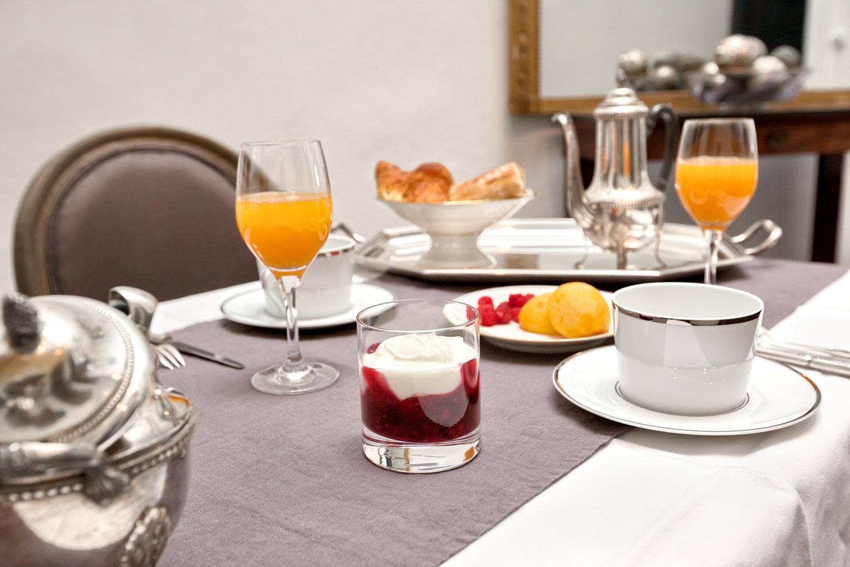 Photo petit déjeuner cour des dames