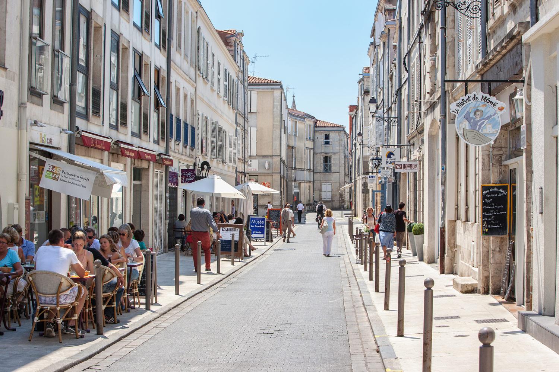 Photo la Rochelle, centre-ville, rues commerçantes